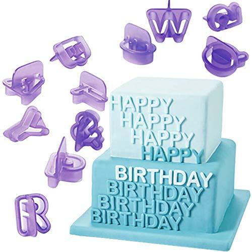 Honearn Ausstechformen für Kuchen, Buchstaben, Fondant, Alphabet, 40 Stück -
