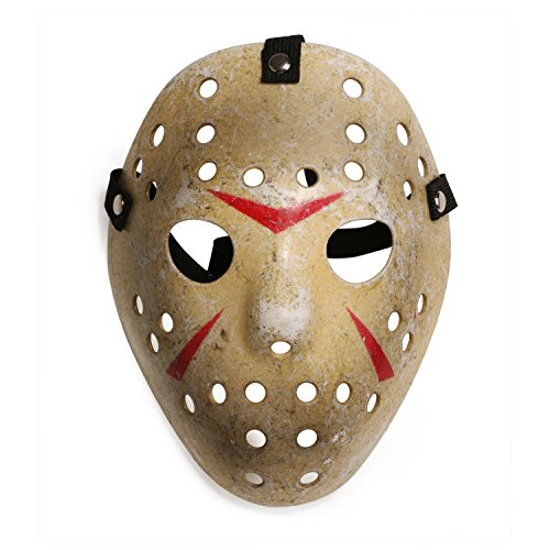 LANDISUN KOSTÜM PROP HORROR HOCKEY MASK JASON VS. FREDDY Freitag der 13te HALLOWEEN MYERS (Child Größe, Gelb) (Recycling Kostüme Für Kinder)
