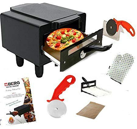 Berg Electric TANDOOR with Pizza Cutter,Magic Cloth,Aluminium Trey,Shock Proof Rubber Legs,Recipe Book Absolutely Free (Berg Mini TANDOOR)