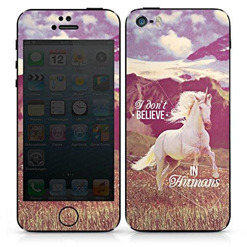 Apple iPhone 4s Case Skin Sticker aus Vinyl-Folie Aufkleber Einhorn Unicorn Sprüche DesignSkins® glänzend