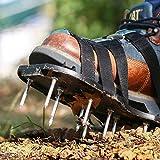 TACKLIFE Rasenlüfter Schuhe, GAS1A 4 Riemen Rasenbelüfter-Nagelschuhe, 30cm Lange Sohlen, 5,5cm Lange Nägel, 4 einstellbare Riemen mit Metallschnallen