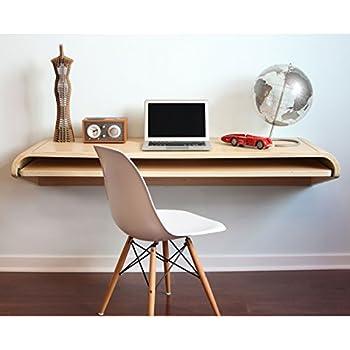 minimal wand schreibtisch in eiche ausf hrung small. Black Bedroom Furniture Sets. Home Design Ideas