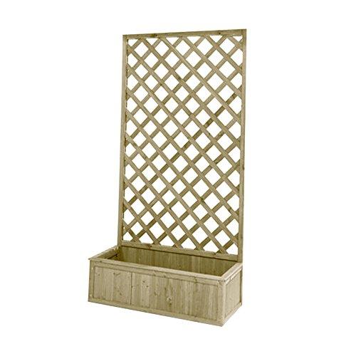 Ioriera con griglia in legno impregnato dimensioni 180x30x75