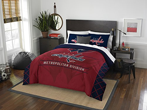 NHL Washington Hauptstädte Draft Zwei Sham-Set, Rot, Full/Queen Size (2 Shams-bettwäsche-set)