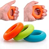 Mini Colorful Strength Finger Hand Grip Muscle Power Training Rubber Ring Exerciser Silicone Durable Stress Reliever Whole