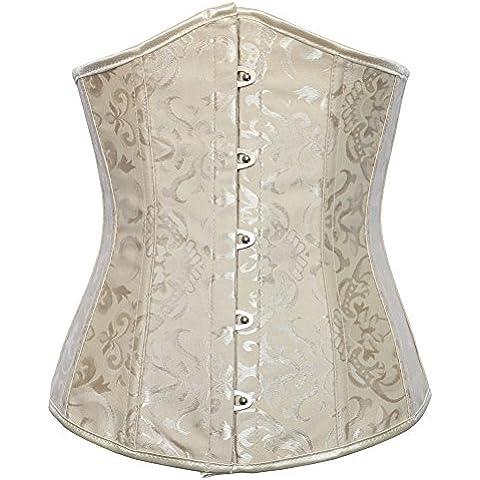 Corpo di Europa Royal corsetto gilet abito fare corsetti per funzionalità di Signore di vita che modella biancheria intima , apricot , 6xl