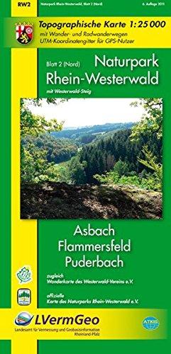 Preisvergleich Produktbild Naturpark Rhein-Westerwald /Asbach, Flammersfeld, Puderbach (WR): Naturparkkarte 1:25000 mit Wander- und Radwanderwegen sowie dem Verlauf des ... Rheinland-Pfalz 1:15000 /1:25000)