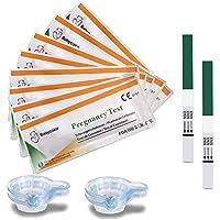 Babycolor 20 Test embarazo, Pruebas de Embarazo Ultrasensibles Predictor 10 mIU/ml, tiras embarazo Detección temprana alta Sensibilidad