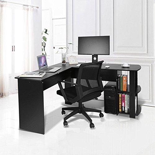 Yosoo scrivania per computer studio ufficio scaffale for Scaffale da scrivania