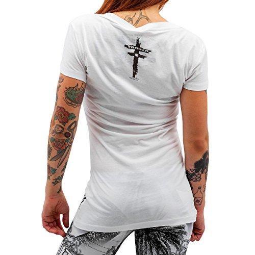 Yakuza Original Damen Joker T-Shirt - Weiß Weiß