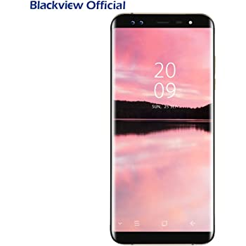 Blackview Smartphone S8 Android 7.0 (proporzione 18:9) 5.7 pollici HD+ Display con SONY 4 fotocamere 13MP+0.3MP, 4GB RAM 64GB ROM con Dual SIM 4G LTE, 3180mAh battery, OTG/GPS/Fingerprint ID, oro