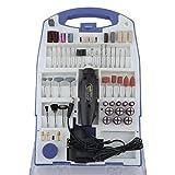LARS360® Mini-Schleifer Schleifmaschine 110 teilig inklusive Koffer Handschleifer Multischleifer Multitool Rotary Drill Grinder Schleifen Werkzeug