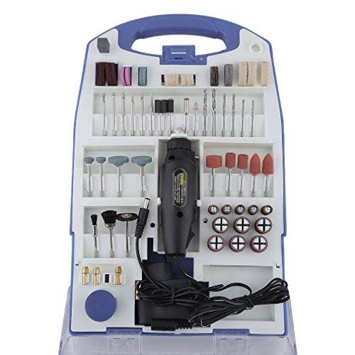 LARS360 110pcs Set de Mini lijadora Mini esmeriladora con accesorios