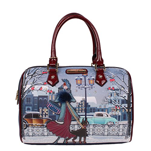 nicole-lee-joanna-loves-snow-print-boston-bag