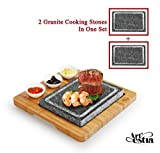 Best Hibachi Grills - Artestia Double Cooking Stones Sizzling Hot Stone Set Review