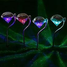 4 pcs Lámpara Solar de Césped,AZXES, Luces Solares para Decoración de Jardín,