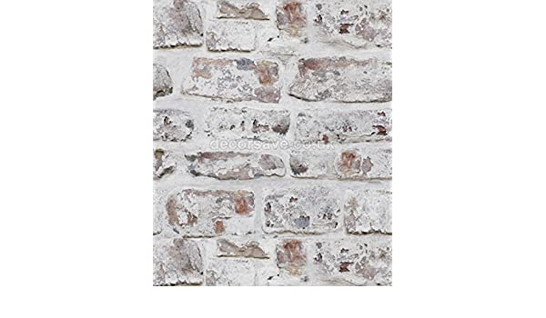 Weiß Arthouse 671100 Geweißten Wand Ziegel Tapete