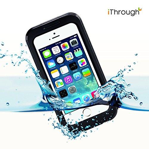 iPhone 5S Funda Impermeable, iThroughTM Funda Impermeable para iPhone 5,Funda a Prueba de Polvo, de Nieve y de Golpe con Protector de Pantalla, Funda Protectora de Cubierta Para iPhone 5,iPhone