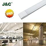 J&C LED Tri-Proof Lumière 36W 4000K 2800LM Lampe 1.2M CIR?80 Light Anticorrosion et Anti-poussière IP65 Tri-étanche Tube Imperméable Pour Cuisine Salle de bain Stockage Jardin Couloir AC220-240V