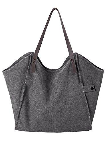 Femmes Longchamp Sac Cabas Sacs à main Courses Tote handbag en Toile Sacs portés épaule Sacs bandoulière Sacs de plage Messager Bag Sac Crossbody Shoulder bag (Gris)