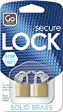 """Go Travel Case Lock Twin (Pair of Solid Brass Padlocks) Go Travel Case Lock twin (formerly """"Design Go"""") is a twin pack solid brass 200mm padlock case locks with spare keys."""