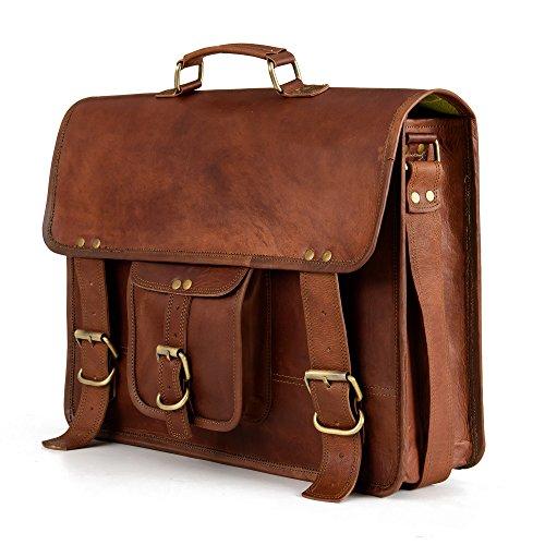 66cc51314673f Berliner Bags Berlin XL Umhängetasche aus Leder Messenger Aktentasche  Tragetasche Laptoptasche 15