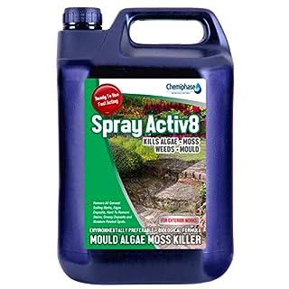 Spray activ8-5 L Patio Decking Fencing Mould Algae Moss Killer Drive Cleaner