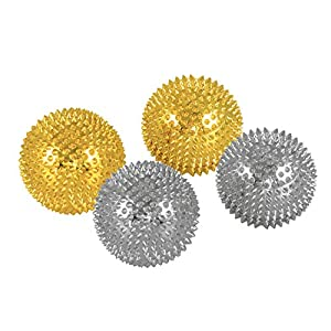 2 x Magnet Akupunktur Massage Kugeln | 2 x 2 Paar | silber und gold | Durchmesser: 45 mm