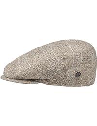 Lierys Inglese Flatcap mit Karomuster Schirmmütze für Herren Schirmmütze Schiebermütze Wintercap mit Schirm, mit Futter Winter Sommer