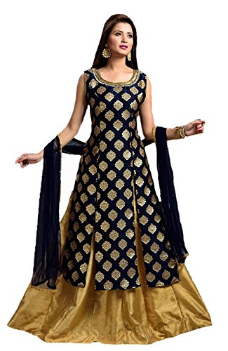 lehenga choli for women (Aarna Fashion's Present new lehenga choli for women party wear lehenga choli for girls of 20 years lehenga choli for women lehenga choli for wedding function) (Grey)  available at amazon for Rs.849