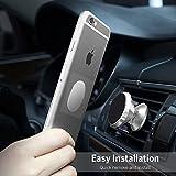 Magnética del teléfono del coche Monte - aluminio universal del montaje del coche del teléfono Soporte para salida de aire con dos placas para el teléfono móvil como el iPhone, Android (plata)