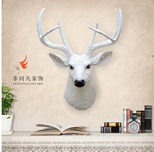 CNMKLM Simulazione di decorazioni di muro parete superiore di resina cervo testa parete bar modello camera decorazione animale wall 39 * 29,5 * 50 CM