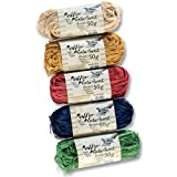 Folia Raffia Naturbast je 50 g, 5 Farben, mehrfarbig, 5-teilig (1 Set)