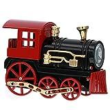 Miniatura rojo tren de vapor locomoción \ Reloj de coleccionistas de escritorio novedad c3586-bkrd