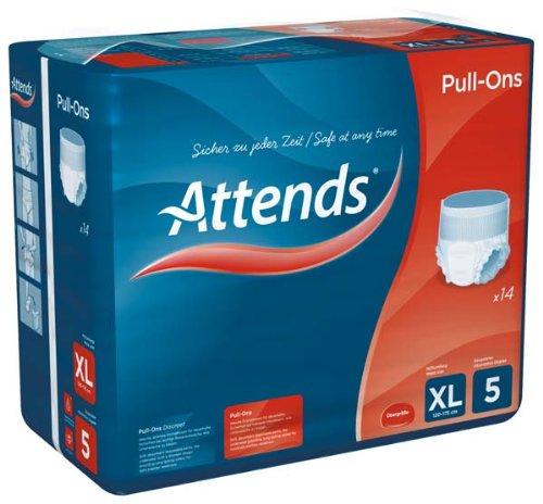 Attends Pull-Ons 5XL, Einmalhose, für mittlere Blasenschwäche, Größe XL, 4 x 14 St