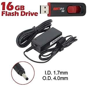 Battpit Ordinateur portable AC Adaptateurs Secteur / Chargeur Pour HP Mini 210-3022sf Avec lecteur Flash USB 16GO GRATUIT
