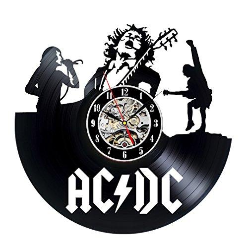 AC DC disco de vinilo reloj de pared, diseño vintage regalo