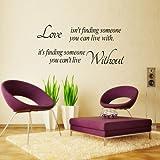 El amor no es extraíble pegatinas de vinilo etiqueta de la pared decoración