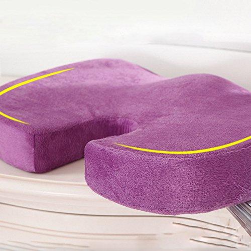 violet foncé fesse Coussin en mousse dos pour alléger douleur office chambre massage outil