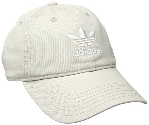 adidas Damen Originals Relaxed Fit Cap, Damen, Khaki/Weiß Damen Fit Cap