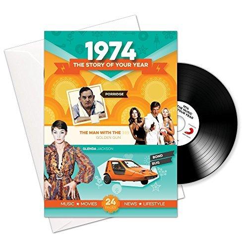 1974 Regalos de cumpleaños o aniversario - 1974 Tarjeta 4-en-1, CD, Regalo y descarga para hombres y mujeres