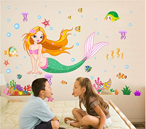 Yirenfeng Kindergarten Cartoon Wandaufkleber Schwimmbad Aufkleber Baby Aufkleber Ozean Halle Wand Bad Wasserdicht Aufkleber B