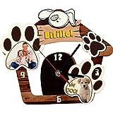 Wanduhr personalisierte Stampy Holzfaserplatte Hund Pfote Foto