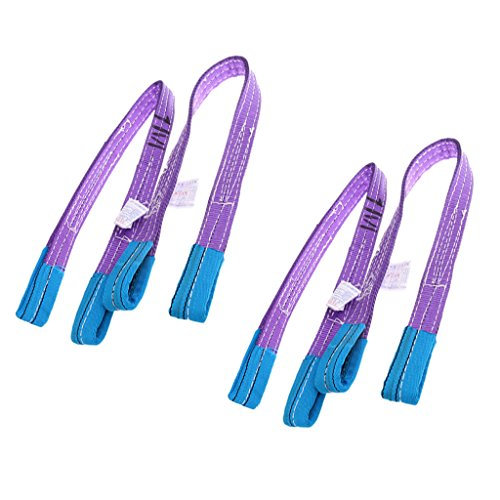 Preisvergleich Produktbild Sharplace Hebeband Hebegurt Rundschlinge 1000 kg / 1 Tonne Länge 1 Meter (4-teiliges Pack)