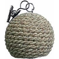 Aroa XXI Bola Set de Pinzas Decorativas para Manteles, Natural, 7.5x3.5x1 cm, 4 Unidades