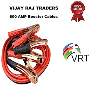 VRT Premium Car Heavy Duty Booster Cables|| Auto Battery Booster 2.21 Meter || Clamp to Start Dead Battery || Auto Car Jumper Cables (600 Amp) (Black)