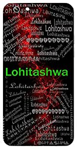 Lohitashwa (One With Red Horse ( Lord Shiva ), Fire) Name & Sign Printed All over customize & Personalized!! Protective back cover for your Smart Phone : Moto X-Play