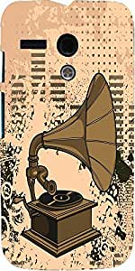 Snoogg Gramophone Music Case Cover For Motorola G