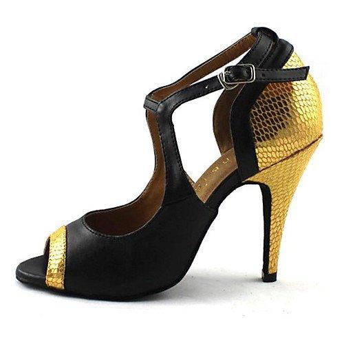 T.t-q scarpe da ballo da donna similpelle similpelle outdoor red sandali latino-americani salsa jazz tango swing practice indoor performance