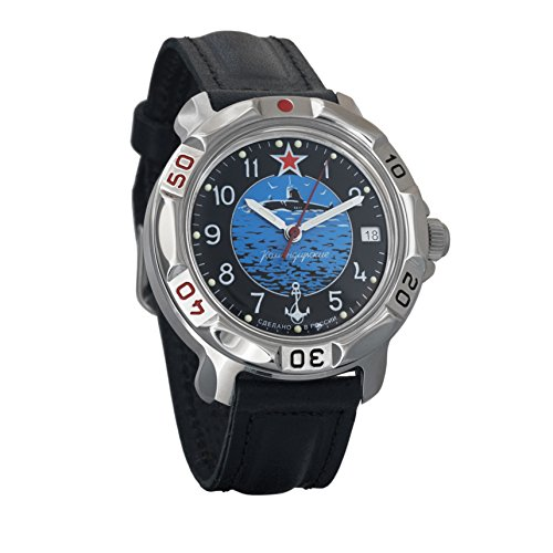 Vostok/Wostok Komandirskie 2414 811163 Submarine U-Boot Russisches Militär Yacht Mechanische Uhr